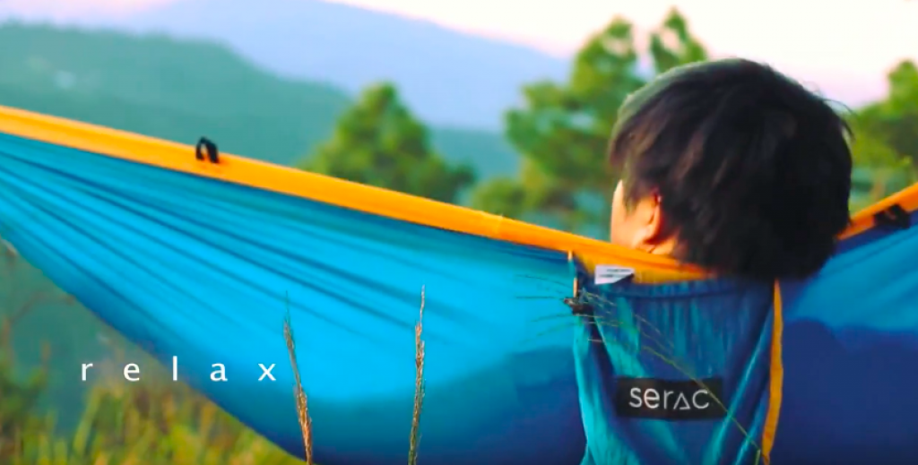 Serac hammock review lounging in a double xl camping hammock