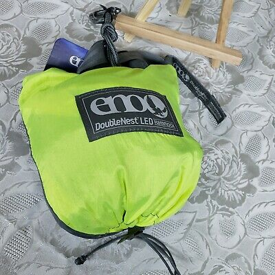 ENO - Eagles Nest Outfitters DoubleNest LED Hammock Neon/Grey NEW